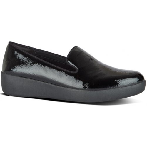 FitFlop AUDREY™ LEATHER SMOKING SLIPPERS