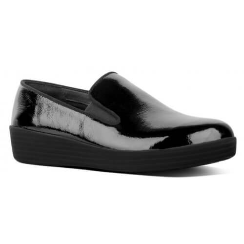 FitFlop™ Superskate™ Crinkle-Patent Loafers