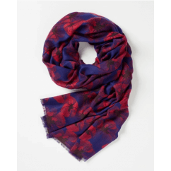 Fable Navy Pop Art Poppy Print Scarf 95080
