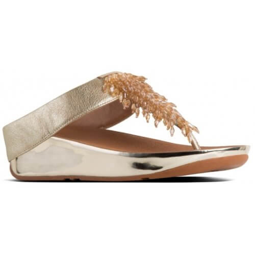 FitFlop RUMBA™ LEATHER TOE-THONGS
