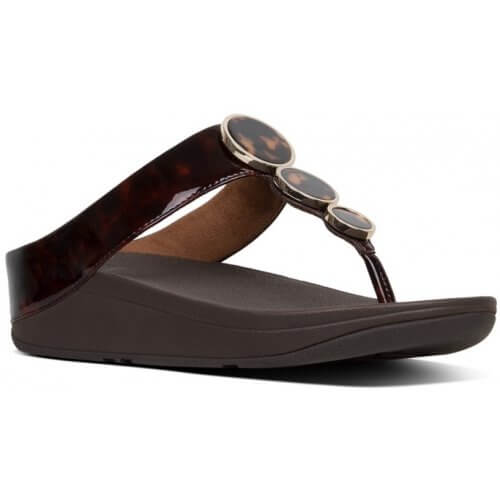 FITFLOP HALO™ TORTOISESHELL TOE-THONGS