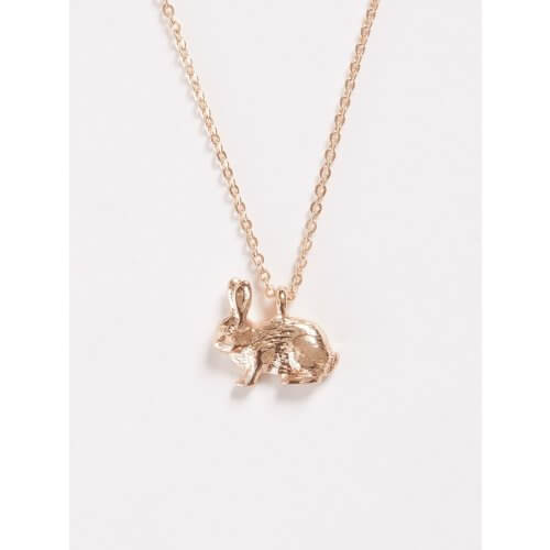 Fable Rose Gold Rabbit Short Necklace 61642
