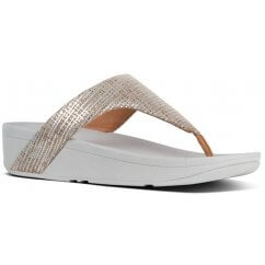 FitFlop LOTTIE™ CHAIN PRINT SUEDE TOE-THONGS