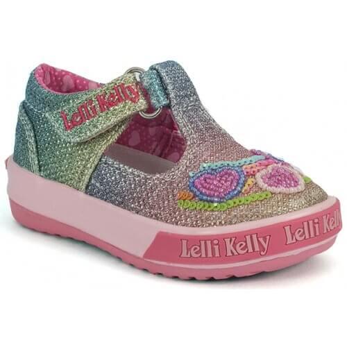 Lelli Kelly Rainbow Hearts T-Bar LK5023