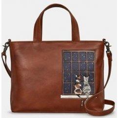 Yoshi Midnight Cats Applique Grab Bag Y26