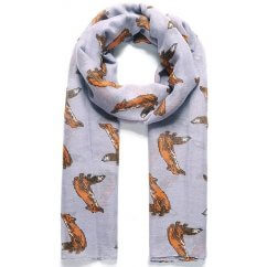Fable Lilac Foxy Print Scarf 95075